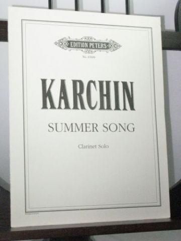 Karchin L - Summer Song for Solo Clarinet